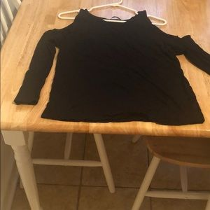 Tops - Black tank with sleeves